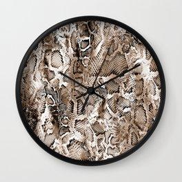 Tan Snakeskin  Wall Clock
