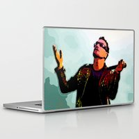 u2 Laptop & iPad Skins featuring U2 / Bono 2 by JR van Kampen