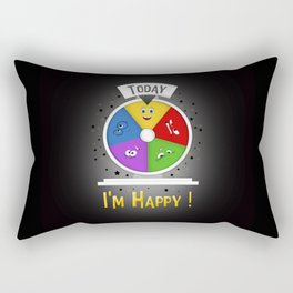 I am Happy Rectangular Pillow