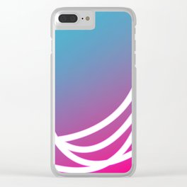 Gradient Loops Clear iPhone Case