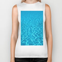 Swimming pool water sun reflection. Ripple Water. Biker Tank