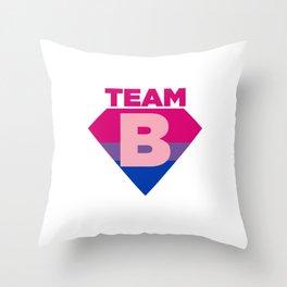 Team B Bisexual Symbol - Bi Sexual Flag Sign Gift Design Throw Pillow