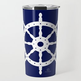 AFE Navy & White Helm Wheel Travel Mug