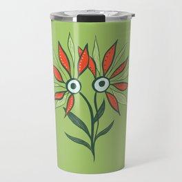 Cute Eyes Flower Monster Travel Mug