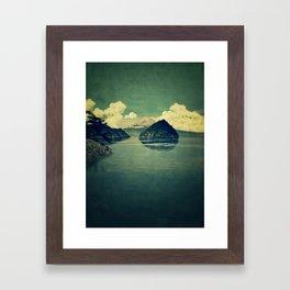 Distant Blues Framed Art Print