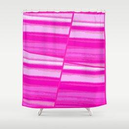 Pink Tile Shower Curtain