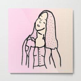 Gradient Girl #1 Metal Print