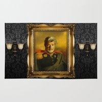 replaceface Area & Throw Rugs featuring George Lucas - replaceface by replaceface