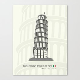 figure leaning tower of Pisa in Italy Canvas Print