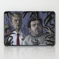 shaun of the dead iPad Cases featuring Shaun of the Dead Caricature by Richtoon