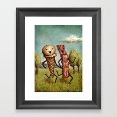 Bacon Loves Ice Cream Framed Art Print