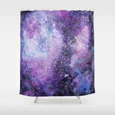 Space. Watercolor Shower Curtain