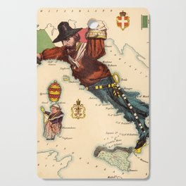 Vintage Illustrative Map of Italy (1869) Cutting Board