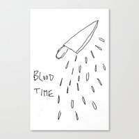 there will be blood Canvas Prints featuring Blood by Andy Warhola