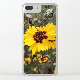 Wild Daises Clear iPhone Case