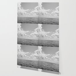 Monochrome Ocean View III Wallpaper