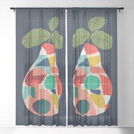 Fresh Pear Sheer Curtain