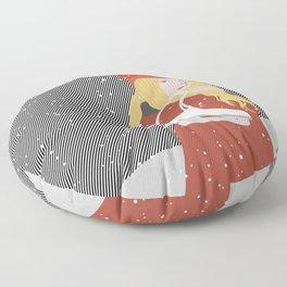 Winter Snow Ice Skater (flat graphics) Floor Pillow