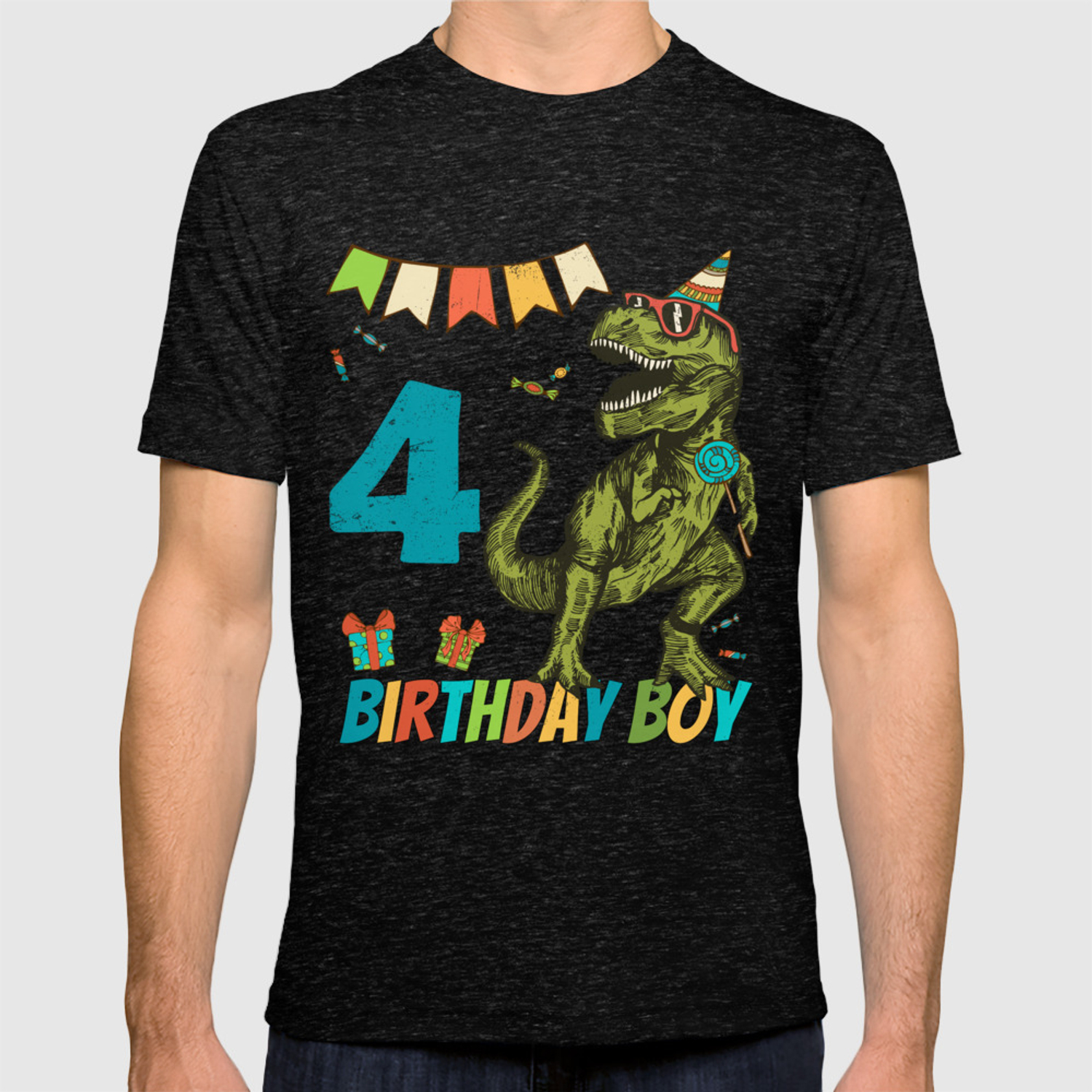 4 Year Olds Childrens Birthday Boy Party T Shirt