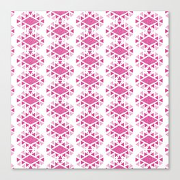 Monlay Pink, Mountain lines, Geometric Canvas Print