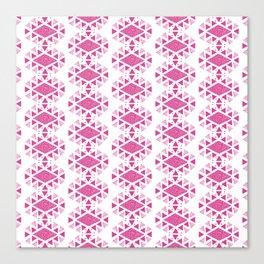 Monlay Pink, Mountain lines, Geometric Canvas Print