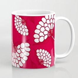 African Floral Motif on Red Coffee Mug