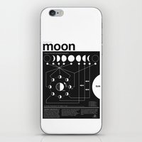 font iPhone & iPod Skins featuring Phases of the Moon infographic by Nick Wiinikka