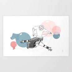 farewell bubbles  Art Print