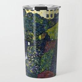 "Gustav Klimt ""Houses In Unterach On The Attersee"" Travel Mug"