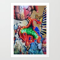 welcome Art Prints featuring Welcome by John Turck
