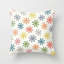Stylized Flower Pattern 2 Throw Pillow