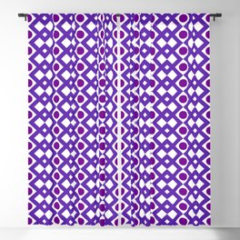 Geometric Design - Purple White and Magenta  - Diamonds Circles Squares Blackout Curtain
