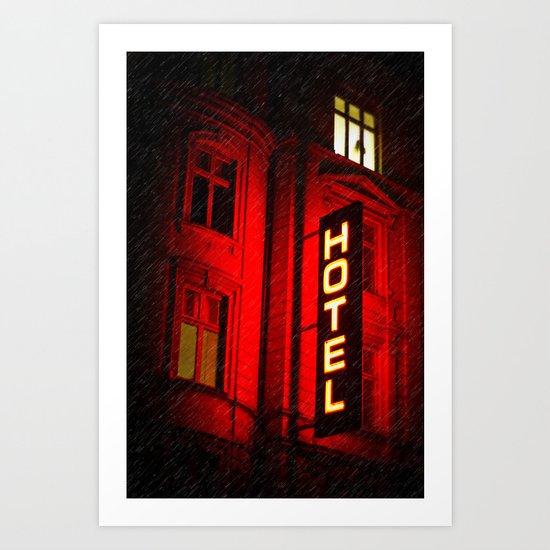Red Hotel Art Print