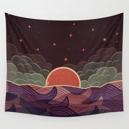 Ocean at Night Wall Tapestry