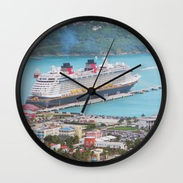 View of our ship Tortola Wall Clock