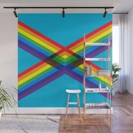 crossing rainbows Wall Mural