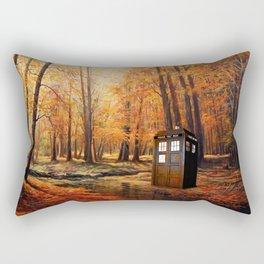 Tardis Forest Art Painting Rectangular Pillow