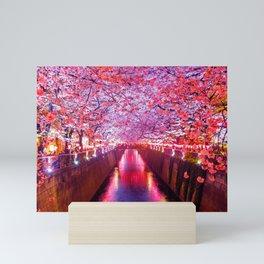 Japan - 'Sakura River' Mini Art Print