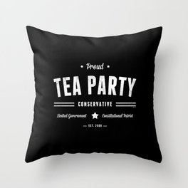 Tea Party Conservative Throw Pillow
