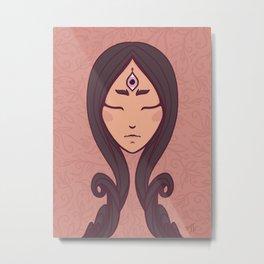 Nature Goddess Eye of Truth Metal Print