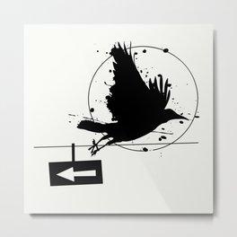 One way Metal Print
