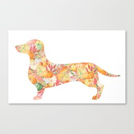 Fall Weenie Canvas Print