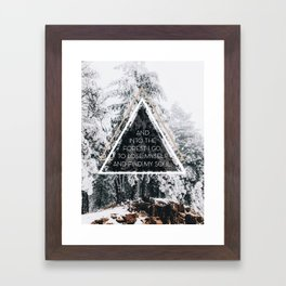 Into the forest I go Framed Art Print