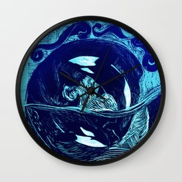 Harmony within the Orca Yin&Yang Wall Clock