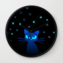 Glow in the Dark Cat Wall Clock