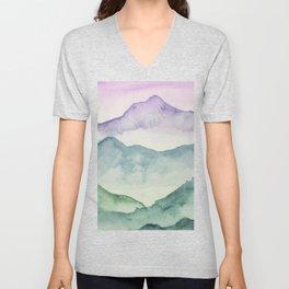 Hills and Valleys Unisex V-Neck