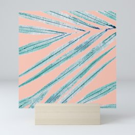 palm leaf coral Mini Art Print