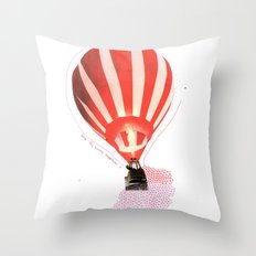 Let's fly away together Throw Pillow