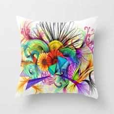 Love Ink Throw Pillow
