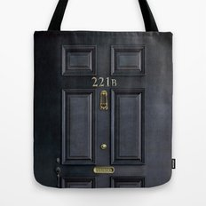 Classic Old sherlock holmes 221b door iPhone 4 4s 5 5c, ipod, ipad, tshirt, mugs and pillow case Tote Bag